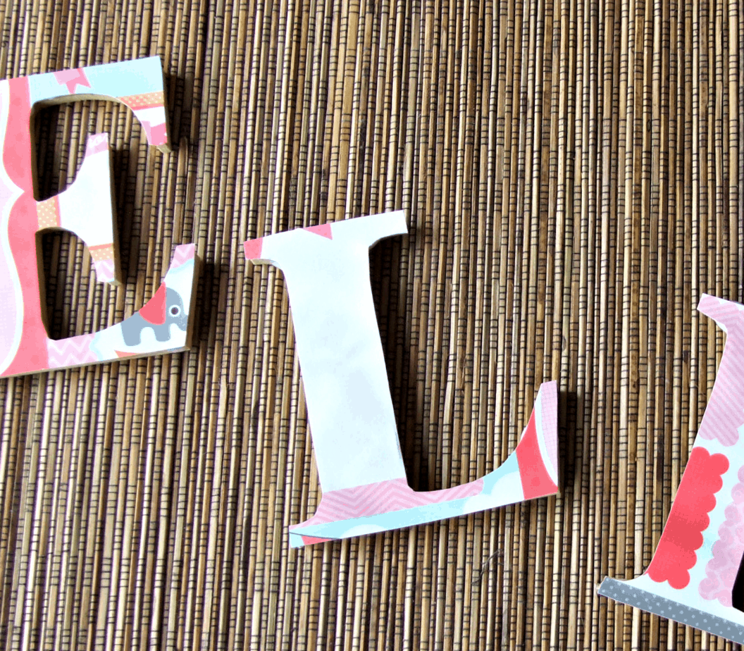how to decorate letters for kids rooms elle cherie